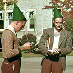 Freshmen in green dunce caps September 1938