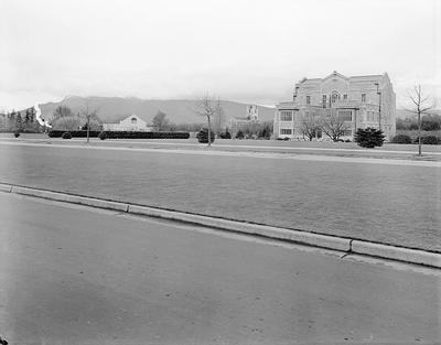 View of Main Mall and Library (original)